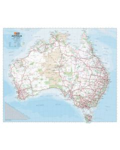 Australia Handy Map - Laminated 750h x 625w mm