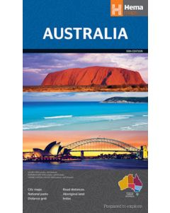 Australia - Large Folded 875 X 1000 mm. Hema