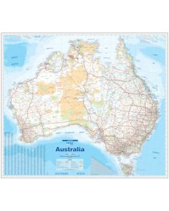 Australia Supermap - Laminated 1067w X 1220h mm