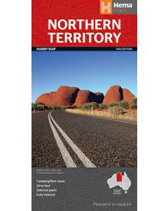 Northern Territory Handy map - Hema