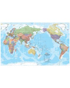 World Map - Laminated 1000w X 650h mm