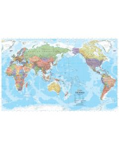 World Supermap - Laminated 1590 X 1020mm
